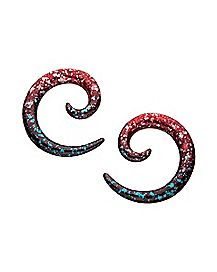 Speckled Spiral Ear Tapers