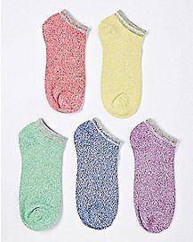 Rainbow Low Cut Socks - 5 Pair