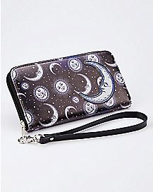 Celestial Moon Zip Wallet