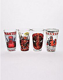 Deadpool Pint Glasses 4 Pack - 16 oz.