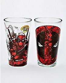 Deadpool Pint Glasses 2 Pack 16 oz. - Marvel