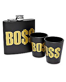 Boss Flask and Shot Glass Set