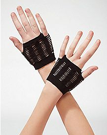 Black Shredded Gloves