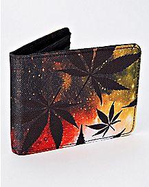 Rasta Galaxy Weed Leaf Wallet