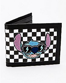 Checkered Stitch Bifold Wallet - Disney