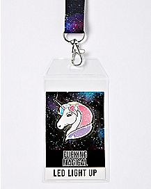 LED Fucking Magical Unicorn Lanyard
