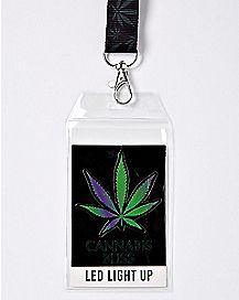 LED Cannabis Bliss Lanyard