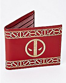 Etched Leather Deadpool Bifold Wallet - Marvel