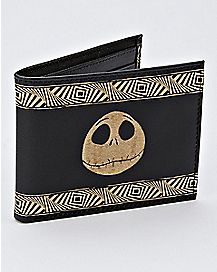 Etched Leather Jack Skellington Bifold Wallet - The Nightmare Before Christmas