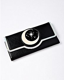 Moon and Stars Trifold Wallet