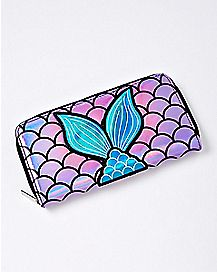 Iridescent Mermaid Tail Zipper Wallet