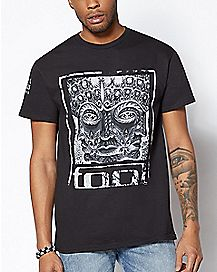 Floral Face Tool T Shirt