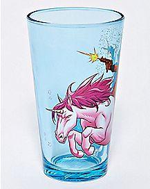 Unicorn Deadpool Pint Glass 16 oz. - Marvel