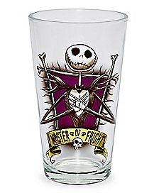 Master of Fright Jack Skellington Pint Glass 16 oz. - The Nightmare Before Christmas