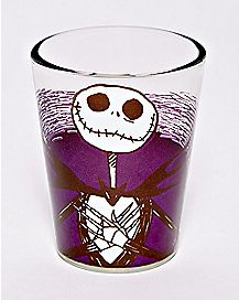 Cross Heart Jack Skellington Mini Glass 1.5 oz. - The Nightmare Before Christmas
