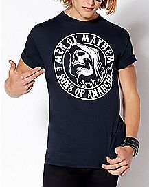 official sons of anarchy t shirts merch spencer 39 s. Black Bedroom Furniture Sets. Home Design Ideas