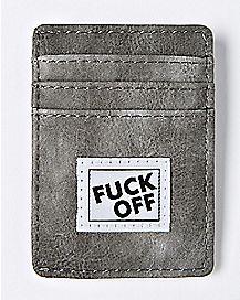 Fuck Off Clip Card Wallet