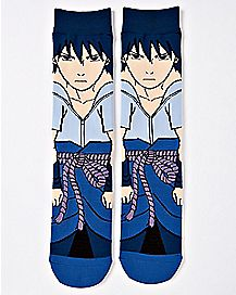 360 Sasuke Crew Socks - Naruto
