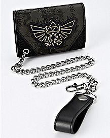Zelda Crest Chain Wallet - The Legend of Zelda
