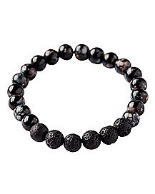 Black Marble Lava Bracelet