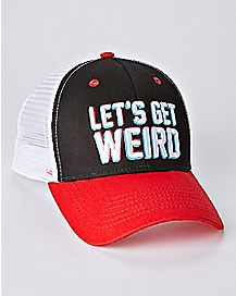 848716afcf5fc Let s Get Weird Trucker Hat