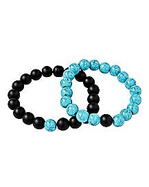 Black & Turqouise Distance Bracelets