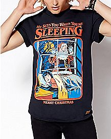 He Sees You When You're Sleeping T Shirt - Steven Rhodes