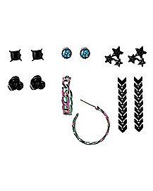 Multi-Pack Hoop and Stud Earrings - 6 Pair