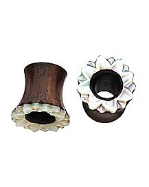 Wood Pearl-Effect Tunnel Plugs