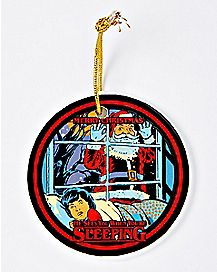 Santa Sees You When You're Sleeping Christmas Ornament - Steven Rhodes