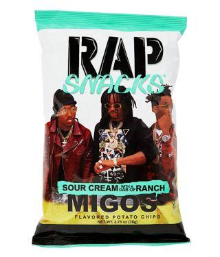Migos Sour Cream with A Dab of Ranch Potato Chips