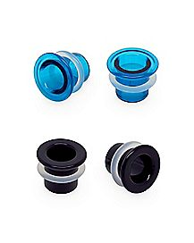 Multi-Pack Single Flare Teal Plugs - 2 Pair