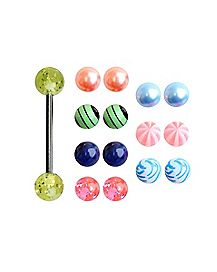 Barbell With Extra Printed Balls - 14 Gauge