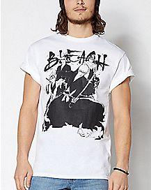 Black and White Bleach T Shirt
