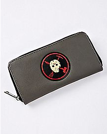 Gray Jason Voorhees Zipper Wallet - Friday the 13th