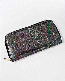 Metallic Scale Zip Wallet