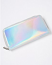 Iridescent Zip Wallet