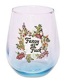 Fancy As Fuck Stemless Wine Glass - 20 oz.