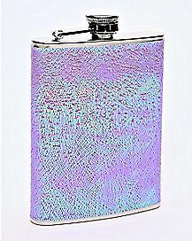 Textured Iridescent Flask - 8 oz.