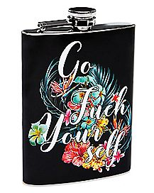 Floral Go Fuck Yourself Flask - 8 oz.