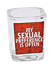 Square My Sexual Preference Is Often Shot Glass - 1.5 oz.