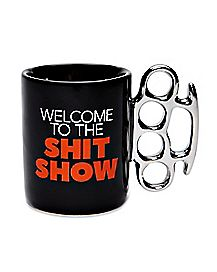 Welcome To The Shit Show Brass Knuckle Shot Glass - 2 oz.