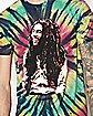 Rasta Tie Dye Bob Marley T Shirt