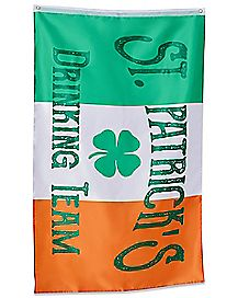 St. Patrick's Day Irish Drinking Team Flag