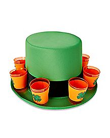 Shamrock Shot Glass St. Patrick's Day Top Hat