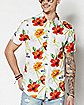 Hibiscus Corona Button Down Shirt