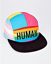 Rainbow Flag Human Camper Hat