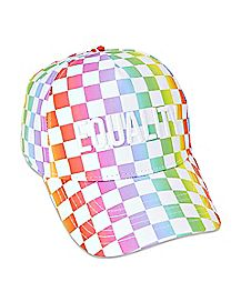 Rainbow Checkered Equality Dad Hat