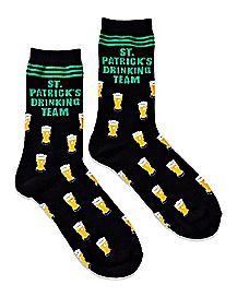 St. Patrick's Drinking Team Beer Crew Socks