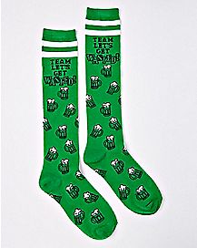 Team Let's Get Wasted St. Patrick's Day Knee High Socks